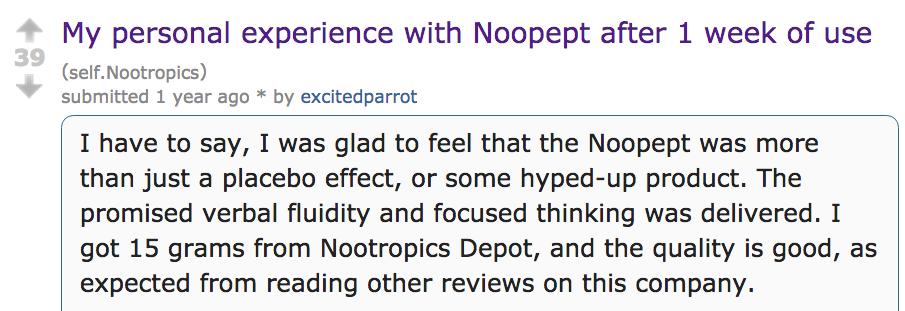 Reddit Beoordeling Noopept
